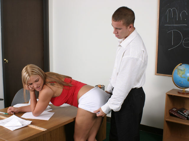 image Teen slut fucks teacher for better grades